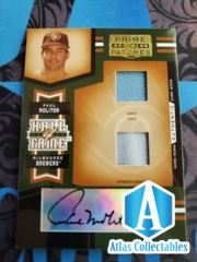 2005 Prime Patches Hall of Fame Materials Autograph Double Swatch #3 P.Molitor Jsy-Pants/25