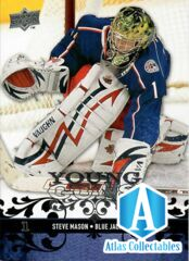2008-09 Upper Deck Series 1 Young Guns Steve Mason #208 Columbus Blue Jackets