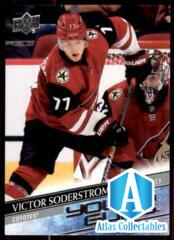 2020-21 UD Series 1 Base Young Guns #221 Victor Soderstrom RC