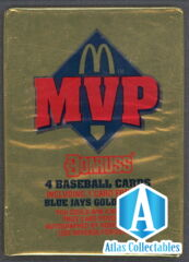 1992 DONRUSS BASEBALL MVP UNOPENED MCDONALDS PACK