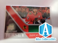2020-21 Upper Deck Series 1 UD Game Jersey Duncan Keith-Chicago Blackhawks GREEN