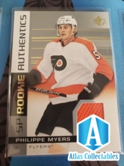 Philippe Myers #135 SP Authentics Rookie Jersey Patch 2019-20