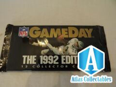 1992 Edition NFL Game Day 12 Collector Cards Unopened Booster Pack