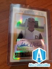 2005 Topps Chrome Update Andrew McCutchen White Refractor AUTO Rookie RC /500