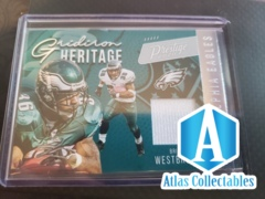 2020 Panini Prestige Gridiron Heritage Brian Westbrook Jersey Card GH-BW EAGLES
