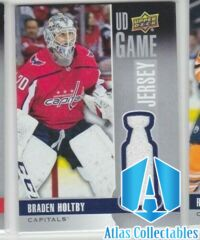 BRADEN HOLTBY UD Game Jersey 2019-20 Upper Deck GJ-BH Washington Capitals