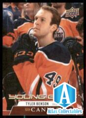 2020-21 UD Series 1 Canvas Young Guns #C113 Tyler Benson RC