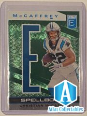 2020 Donruss Elite Football Christian McCaffrey Spellbound E Green Parallel #8