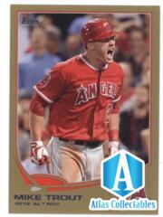 2013 Topps Gold #338 Mike Trout Angels NM-MT /2013