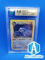 Dark Machamp 10/82 Rare Holo 2000 Team Rocket Set Unlimited - MNT 9 (like psa)