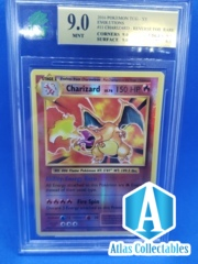Charizard 11/108 Evolutions REVERSE - Graded 9 MNT (like PSA)