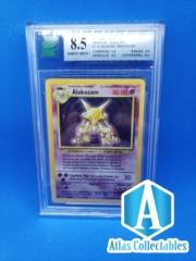 Alakazam Holo Rare Base Set 1/102 - MNT 8.5 MINT GRADED (Like PSA)