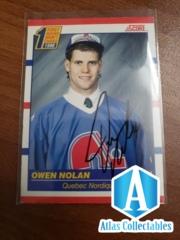 AUTO Owen Nolan Quebec Nordiques Rookie First Round Draft