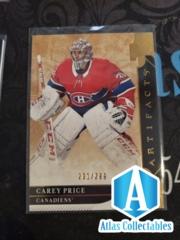 19-20 UD Artifacts 201/299 Carey Price #'d