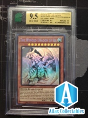 The Winged Dragon Of Ra - Ghost Rare - LED7-EN000 GRADED MNT 9.5 (like PSA)