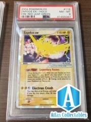 2004 Pokemon EX FireRd LeafGreen Zapdos EX Holo 116/112 PSA 8