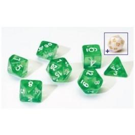 Sirius Dice - Green Translucent 7 Set