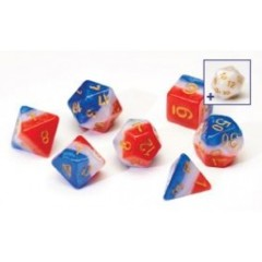 Sirius Dice - Red, White, and Blue 7 Set