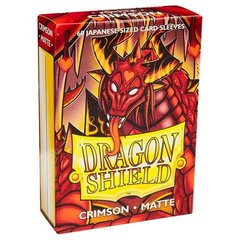 Dragon Shield 60 Count Sleeves - Matte Crimson