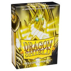 Dragon Shield 60 Count Sleeves - Matte Yellow