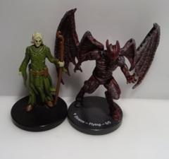 Demon flying 5/5 Overwhelming Swarm miniature MTG token