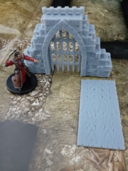 Archway  (Open/Portcullis/Door)  Unpainted 28mm Figure