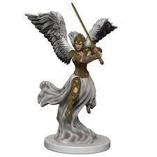 Angel flying 4/4 Overwhelming Swarm miniature MTG