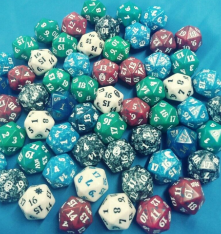 MTG Spindown Dice 10 Random