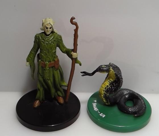 Snake 1/1 Overwhelming Swarm miniature MTG token
