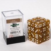 Blackfire Dice Cube - 12mm D6 36 Dice Set - Marbled Light Brown