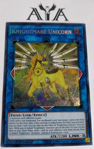 Knightmare Unicorn - FLOD-EN047 - Secret Rare - 1st Edition