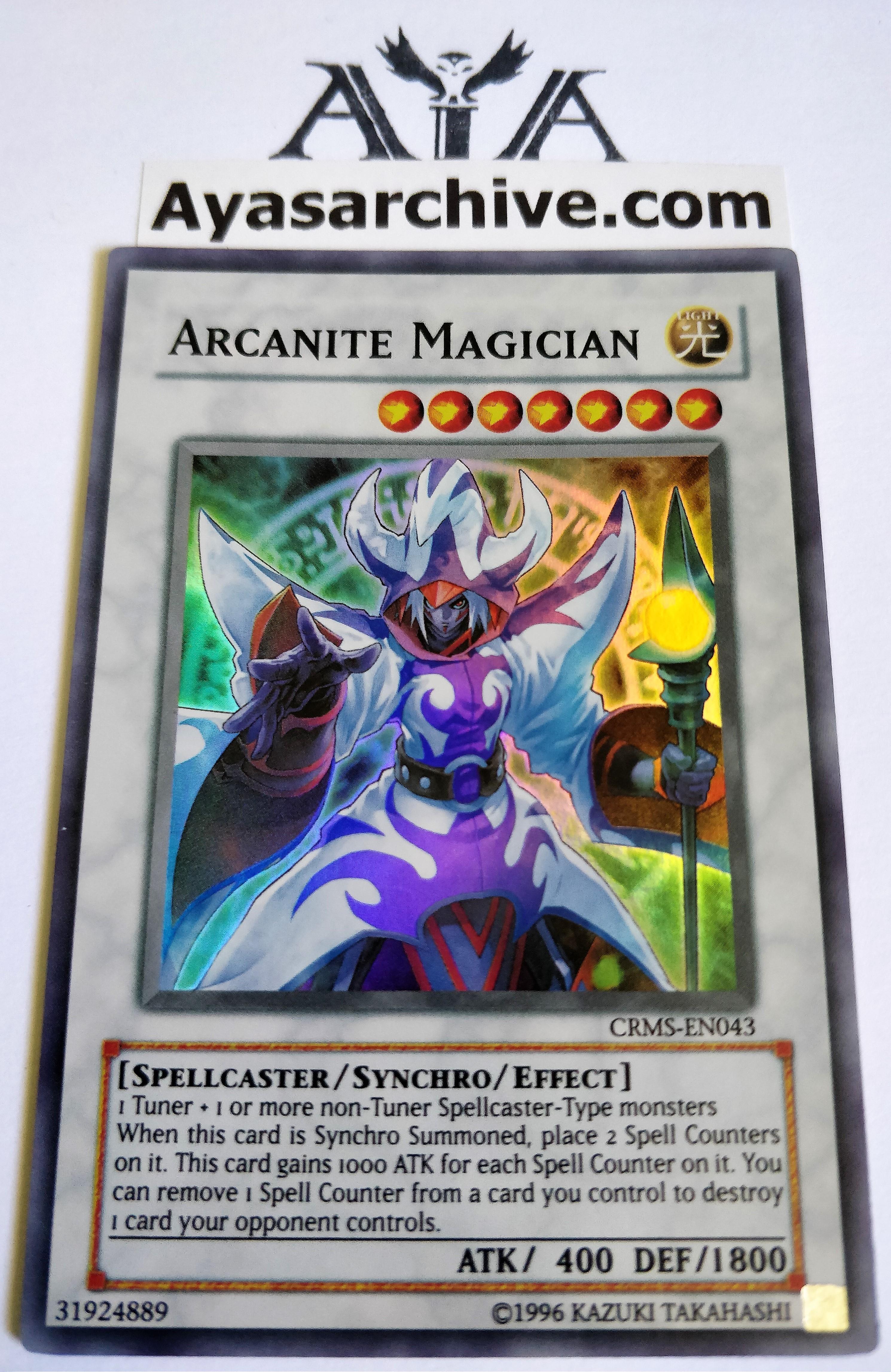 Arcanite Magician - CRMS-EN043 - Super Rare - Unlimited Edition