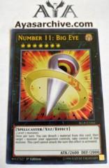 Number 11: Big Eye - BLLR-EN066 - Ultra Rare - 1st Edition