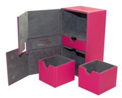 Ultimate Guard Twin Flip'N'Tray Deck Case 200+ Standard Size Xenoskin Pink