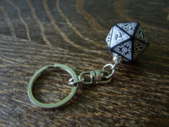 17- steampunk key chain D20 dice keychain dungeons and dragons dice accessories steam punk rpg