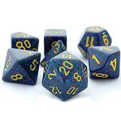 Chessex Dice - 7pc set - Speckled