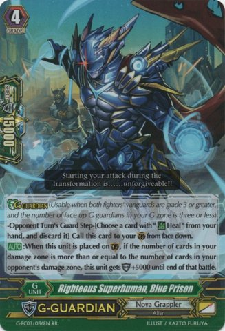G-FC03/036EN - RR - Righteous Superhuman, Blue Prison