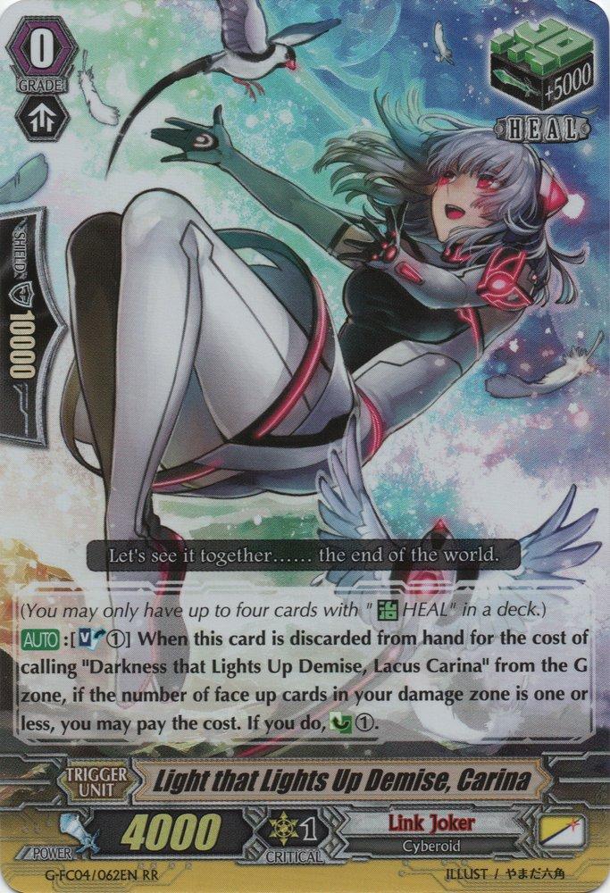 Cardfight Vanguard-Darkness that Lights Up Demise Lacus Carina-G-FC04//038EN-RRR