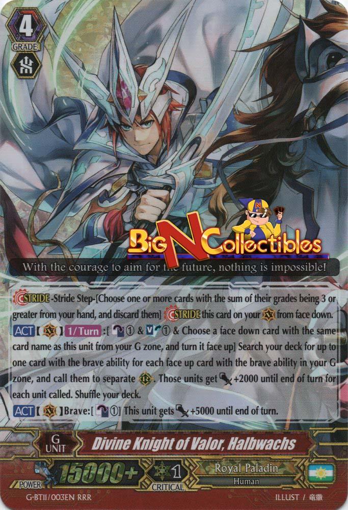 Halbwachs G-BT11//003EN RRR N Vanguard Divine Knight of Valor 1x Cardfight!