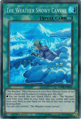 SPWA-EN036 - Super Rare - 1st Edition - The Weather Snowy Canvas