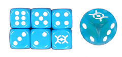 Pokemon Evolutions Light Blue Dice