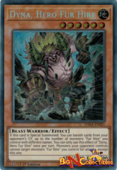 DASA-EN021 -  Dyna, Hero Fur Hire - Secret Rare - 1st Edition