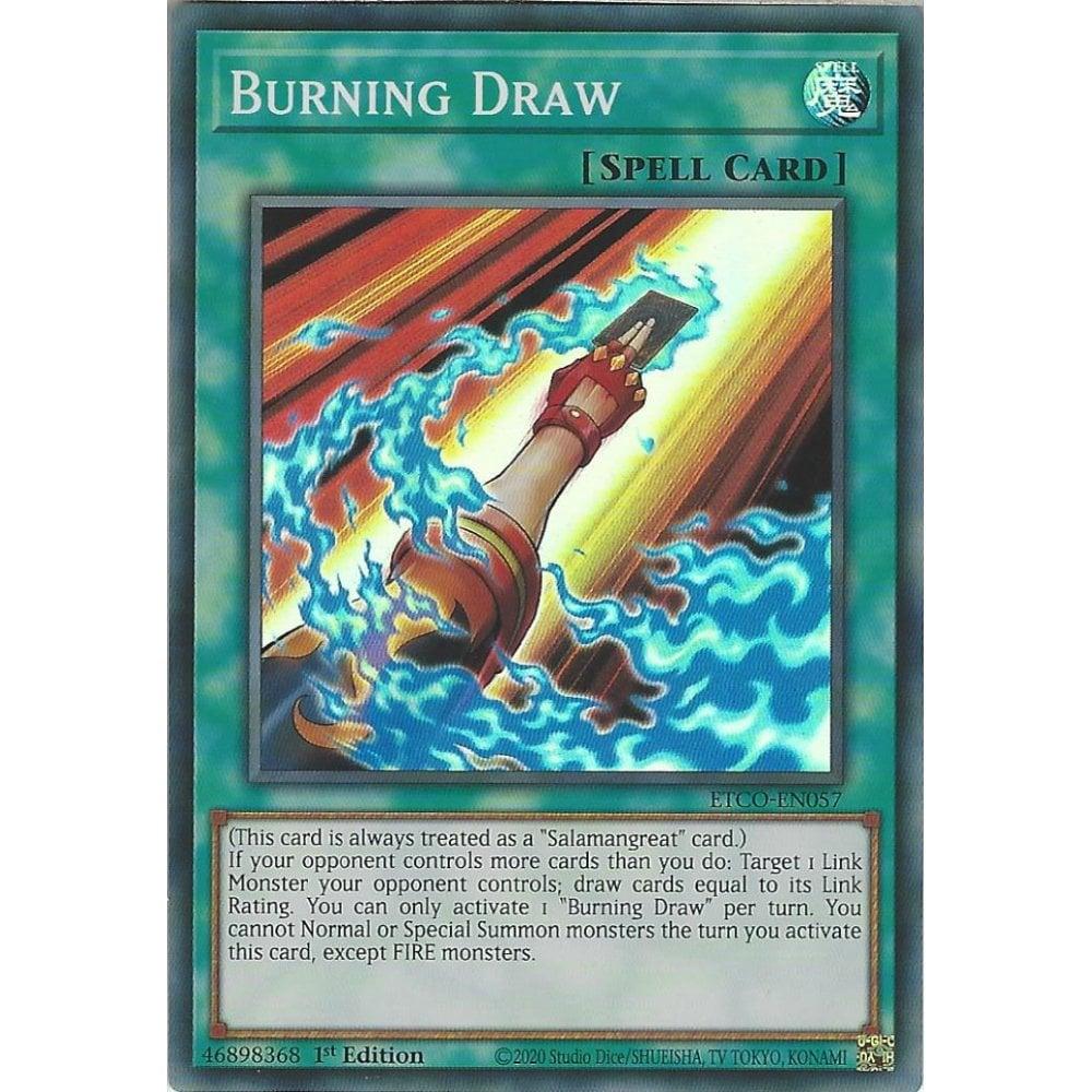 ETCO-EN057 - Burning Draw - Super Rare - 1st Edition