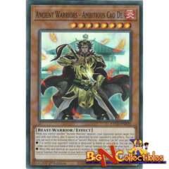 ETCO-EN020 - Ancient Warriors - Ambitious Cao De - Super Rare - 1st Edition