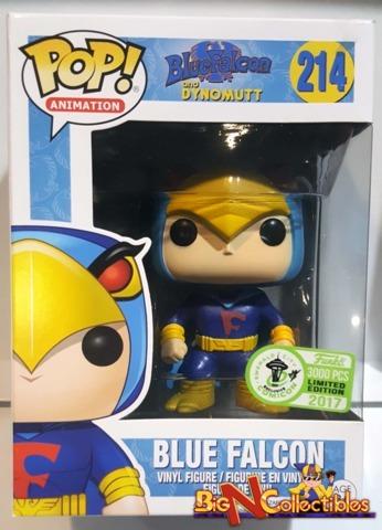 Funko Pop! Animation - Blue Falcon #214 ECCC 2017 Exclusive LE 3000pcs Stained Box Top Part