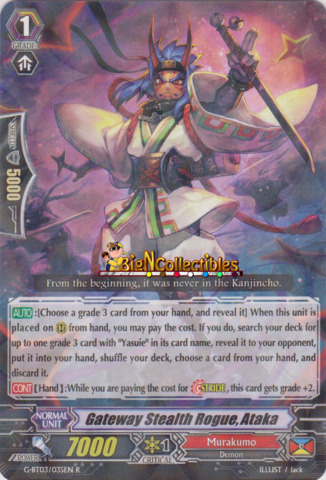 G-BT03//034EN Cardfight Vanguard  x 4 Stealth Rogue of the Flowered Hat Fujino