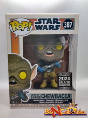 Funko Pop! Star Wars - Concept Series Chewbacca #387 2020 Galactic Convention Exclusive
