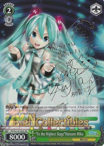 To The Highest Stage Hatsune Miku PD/S22-E102X XR Signed