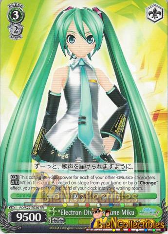 Electron Diva Hatsune Miku - Double Rare (RR) - PD/S22-E026