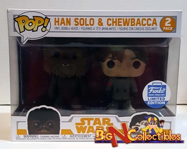 Funko Pop! Star Wars - Han Solo & Chewbacca 2-Pack Funko Shop Exclusive